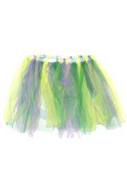 Purple/ Green/ Gold Color Tutu Skirt Adult Size