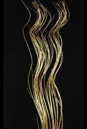 42in Tall Glittered Gold Curly Willow