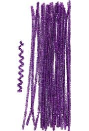 12in Long Purple Tinsel Wire Chenille Stems/ Pipe Cleaners