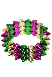 Mardi Gras Spike Bracelets