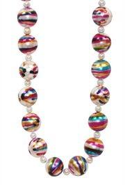 Rainbow Marble Pearl Beads