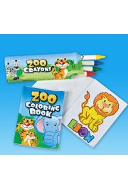 3.5in Zoo Animal Coloring Set