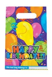 6.5in x 10in Happy Birthday Loot Bag