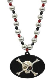 Skull and Cross Bone Medallion Bead
