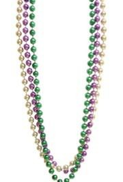 18mm 72in Metallic Purple, Green, and Gold Beads