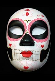 Deluxe Plastic Masks: Day of the Dead with Hearts