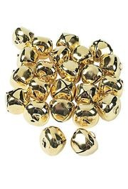 Gorgeous Gold Tone Jumbo Jingle Bells