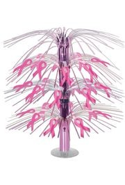 18in Pink Ribbon Cascade Centerpiece