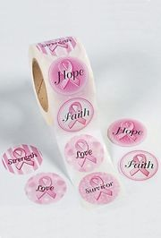 Breast Cancer Awareness Jumbo Roll Stickers