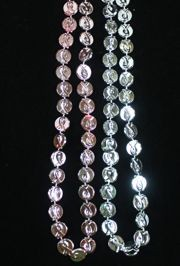 31in 13mm Plastic Breast Cancer Awareness Coin Bead Necklaces