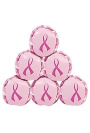 Vinyl Pink Ribbon Camouflage Kick Balls