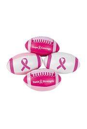 4in Foam Pink Ribbon Footballs