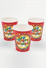 9oz Happy Birthday Paper Cups