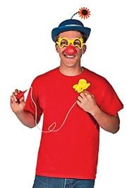 Felt Carnival Clown Hat/ Foam Glasses Kit w/ Flower