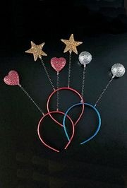 Plastic Sparkling Cosmic Head Boppers