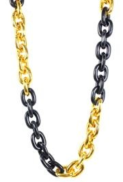 Black and Gold Large Link Necklace
