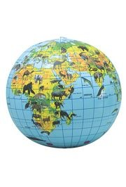 Animal Print Inflated Globe