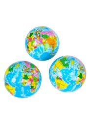 3in Squeeze Ball Globe