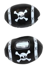 6in x 4in Vinyl Footballs With Pirate Design