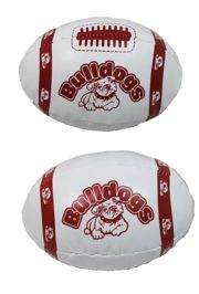 6in x 4in Vinyl Footballs With Bulldogs Design