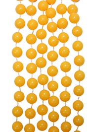 7mm 33in Non-Metallic Yellow Beads