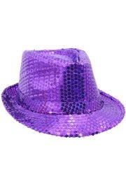 Purple Sequin Fedora Hat
