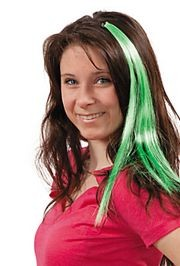 Synthetic Green Hair Extensions