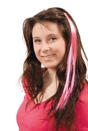 Synthetic Hot Pink Hair Extensions