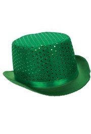 11 1/2in Adult St Patrick Felt Top Sequin Fedora Hat