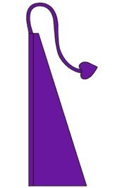 13ft Long x 36in Wide Purple Wind Dancer/ Feather Flag