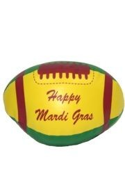 5in x 9in Vinyl Purple Green Yellow Football w/ Happy Mardi Gras Printing