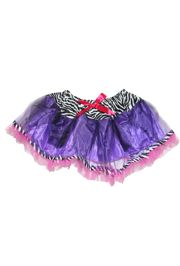 Purple/ Pink/ Black and White Color Tutu Skirt Kids Size