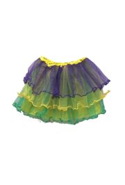 Mardi Gras Color Tutu Skirt Adult Size