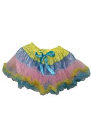Yellow/ Light Blue/ Light Pink Color Tutu Skirt Adult Size