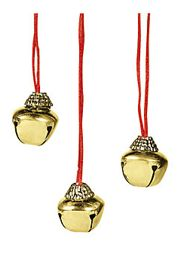 28in Long Metal Christmas Jingle Bell Necklaces