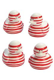 Candy Cane Striped Rubber Duckies