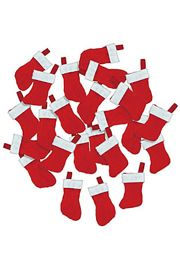 1 1/8in x 2 1/4in Cotton Mini Christmas Stockings