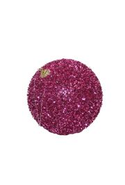 5in Glitter Decorative Pink Ball Ornament