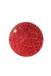 6in Glitter Decorative Red Ball Ornament