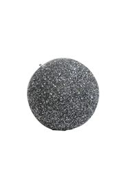 6in Glitter Decorative Silver Ball Ornament