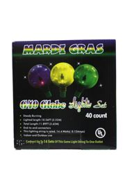 10.5ft 40 Count Mardi Gras Light