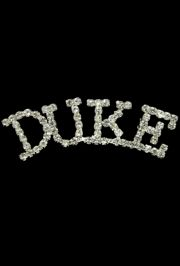 3in Long x 3/4in Tall Rhinestone Duke pin