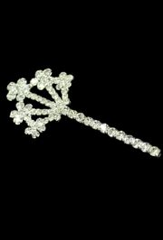 3 1/4in Long x 1 1/2in wide Rhinestone Tree Scepter Pin