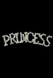 2 3/4in Long x 5/8in Tall Rhinestone Pin Princess