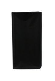 54in x 108in Black Plastic Lined Plastic Tablecovers