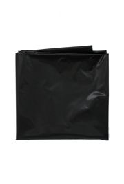 82in Black Round Heavy Duty Plastic Tablecovers