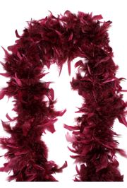 7-8in Wide x 6ft Long Maroon Feather Boa