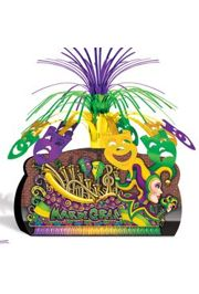 12 3/4in Mardi Gras Float Centerpiece