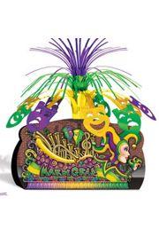 12 3/4in Mardi Gras Float Centerpiece