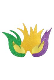 6in Tall x 7 1/2in Wide Mardi Gras Glittered Mask Fancy Frames